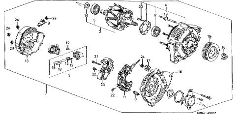 Acura online store : 1989 legend alternator (denso) parts