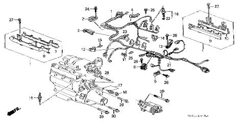 Acura online store : 1988 legend engine wire harness parts