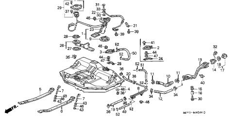 Acura online store : 1993 integra fuel tank parts