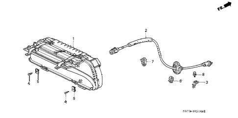 Acura online store : 1990 integra combination meter parts