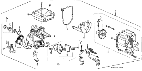 Acura online store : 1991 integra distributor (tec) (1) parts
