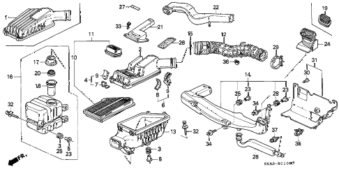 Acura online store : 1992 integra air cleaner parts