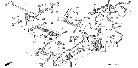 Acura online store : 1992 integra rear lower arm parts