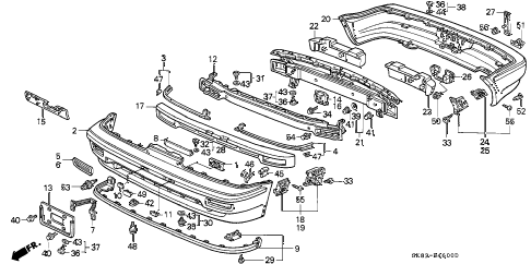 Acura online store : 1991 integra bumper parts