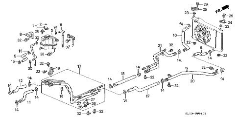 Acura online store : 1991 nsx radiator hose parts