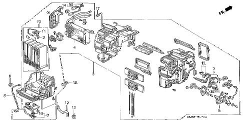 Acura online store : 1996 nsx heater unit parts