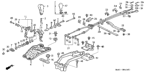 Acura online store : 1991 nsx shift lever parts