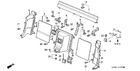 Acura online store : 1992 nsx rear bulkhead lining parts