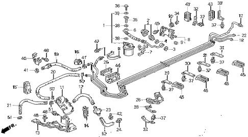 Acura online store : 1994 vigor fuel pipe parts