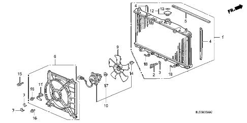 Acura online store : 1993 vigor radiator parts