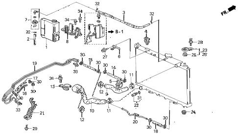 Acura online store : 1994 vigor radiator hose parts