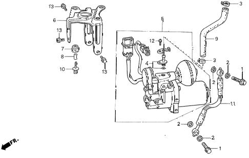 Acura online store : 1994 vigor abs pump parts