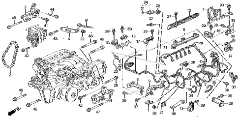 97 Integra Engine Diagram 97 Civic Engine Diagram Wiring