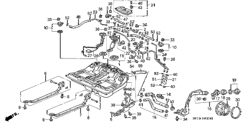 Acura online store : 1992 legend fuel tank parts