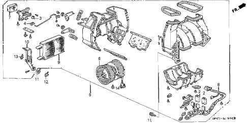 Acura online store : 1994 legend heater blower parts