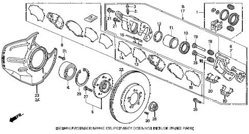 Acura online store : 1993 legend front brake ('91-'95
