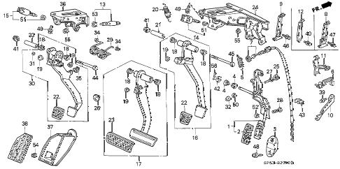 Acura online store : 1993 legend pedal parts