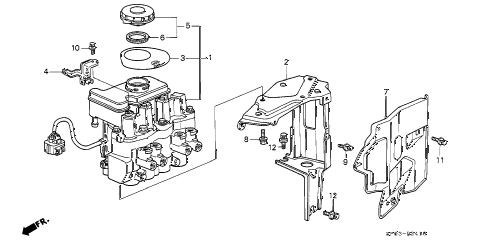 Acura online store : 1994 legend abs modulator parts
