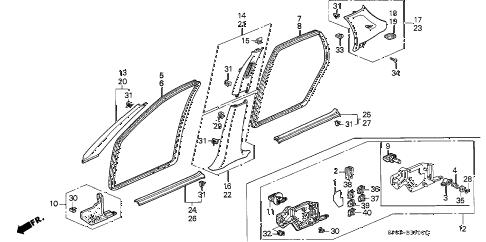 Acura online store : 1995 legend pillar garnish parts