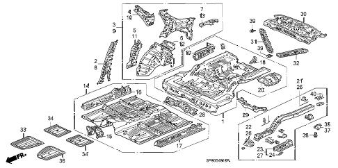 Acura online store : 1991 legend inner panel parts