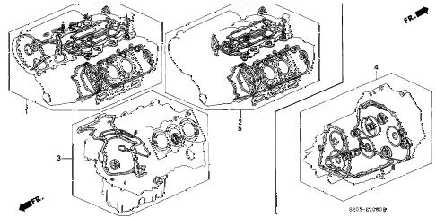 Acura online store : 1992 legend gasket kit parts
