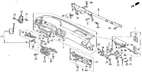 Acura online store : 1992 legend instrument panel parts