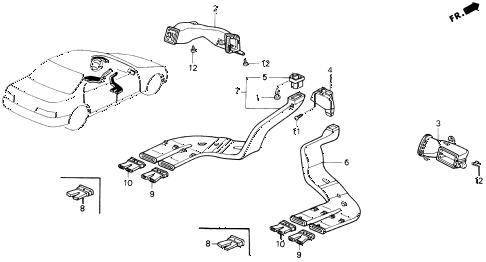 Acura online store : 1992 legend ventilation duct parts