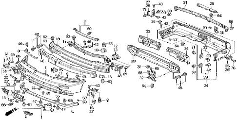 Acura online store : 1991 legend bumper parts