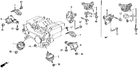 Acura online store : 1991 legend engine mount ('91-92) parts