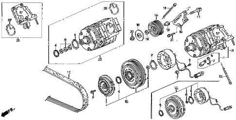 Acura online store : 1991 legend a/c compressor ('91) parts