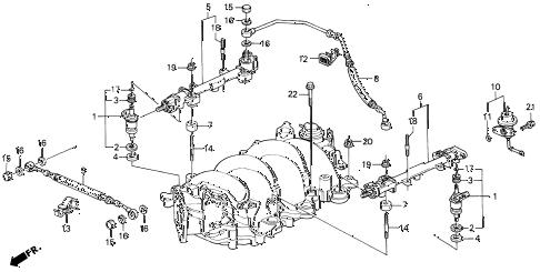 Acura online store : 1991 legend fuel injector parts
