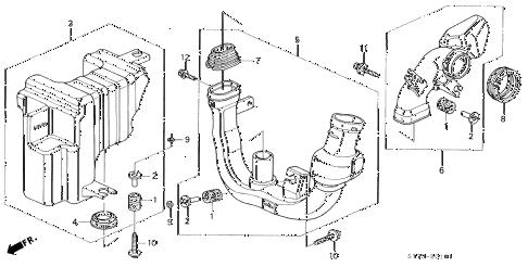 Acura online store : 1994 integra resonator chamber (1) parts