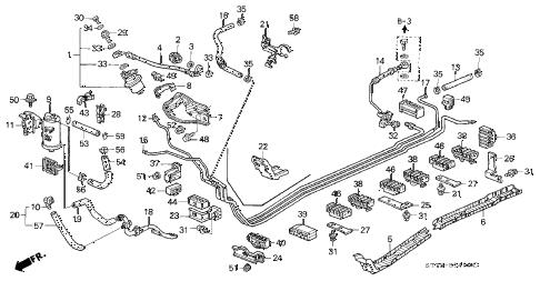Acura online store : 1994 integra fuel pipe (1) parts