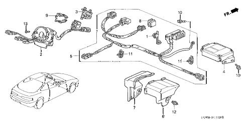 Acura online store : 1999 integra srs unit (2) parts
