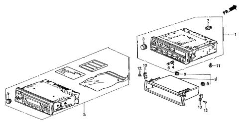 Acura online store : 1996 integra auto radio parts
