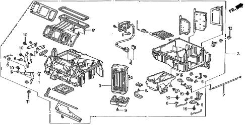 Acura online store : 1999 integra heater unit parts