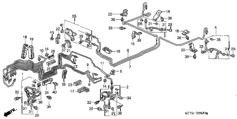 Acura online store : 1996 integra brake lines (3) parts