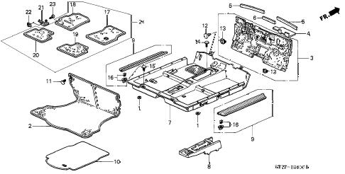 Acura online store : 1998 integra floor mat parts