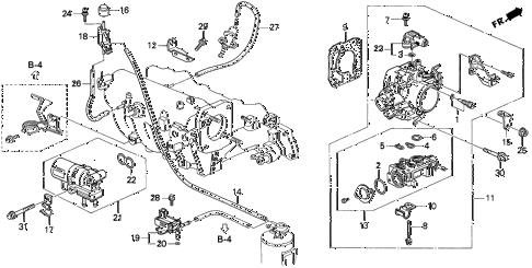 Acura online store : 1997 integra throttle body (1) parts