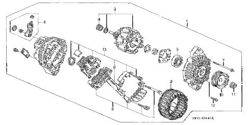 Acura online store : 1998 integra alternator (mitsubishi