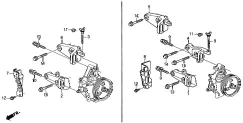 Acura online store : 1994 integra p.s. pump bracket parts