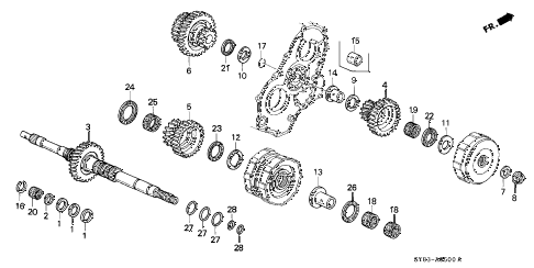 Acura online store : 1996 integra at mainshaft (1) parts