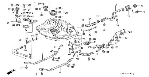 Acura online store : 1995 integra fuel tank (1) parts