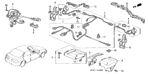 Acura online store : 1994 integra srs unit (1) parts