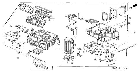 Acura online store : 1996 integra heater unit parts