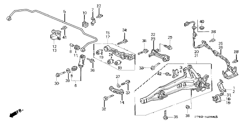 Acura online store : 1996 integra rear lower arm parts