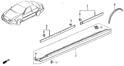 Acura online store : 1999 integra protector parts