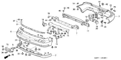 Acura online store : 1994 integra bumper (1) parts