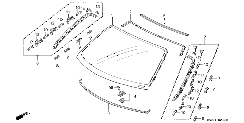 Acura online store : 1995 integra front windshield parts