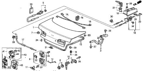 Acura online store : 1998 integra trunk lid parts